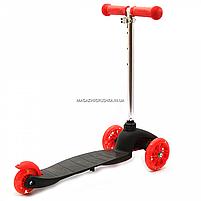 Самокат трёхколёсный Best Scooter детский черный 466-112, фото 4