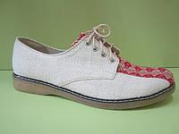 """Мужская обувь """"Комфорт-орнамент красный"""""""