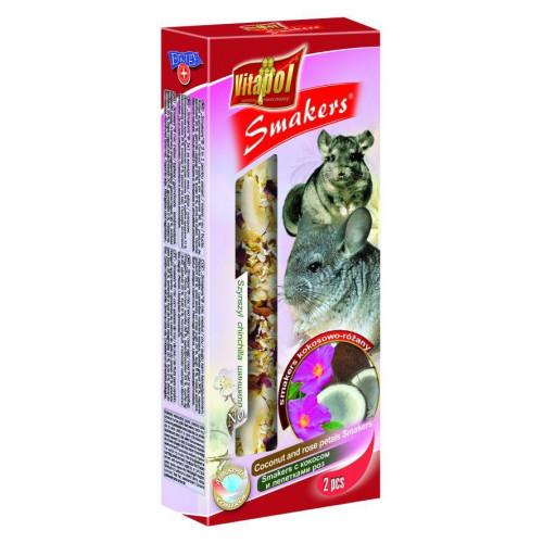Колба Vitapol для шиншилл, кокосы и лепестки роз, упаковка 2 шт