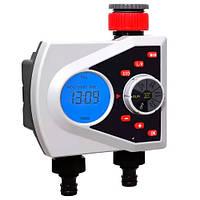 Таймер полива, подачи воды на 2 линии цифр. упр Aqualin YL21076 подсветка