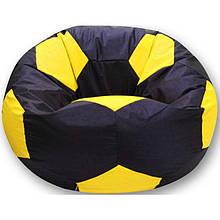 Пуфик детский Хатка Мяч черный с желтым