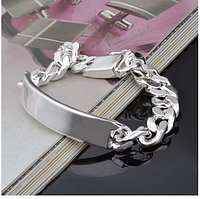 Серебряный стерлинг браслет для мужчин 925