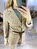 Жіночий діловий брючний костюм в смужку розміри 42-44, 44-46, фото 6