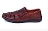 Мужские кожаные летние туфли Matador brown коричневые