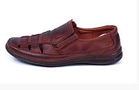 Мужские кожаные летние туфли Matador brown коричневые, фото 1