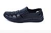 Мужские кожаные летние туфли Matador black черные