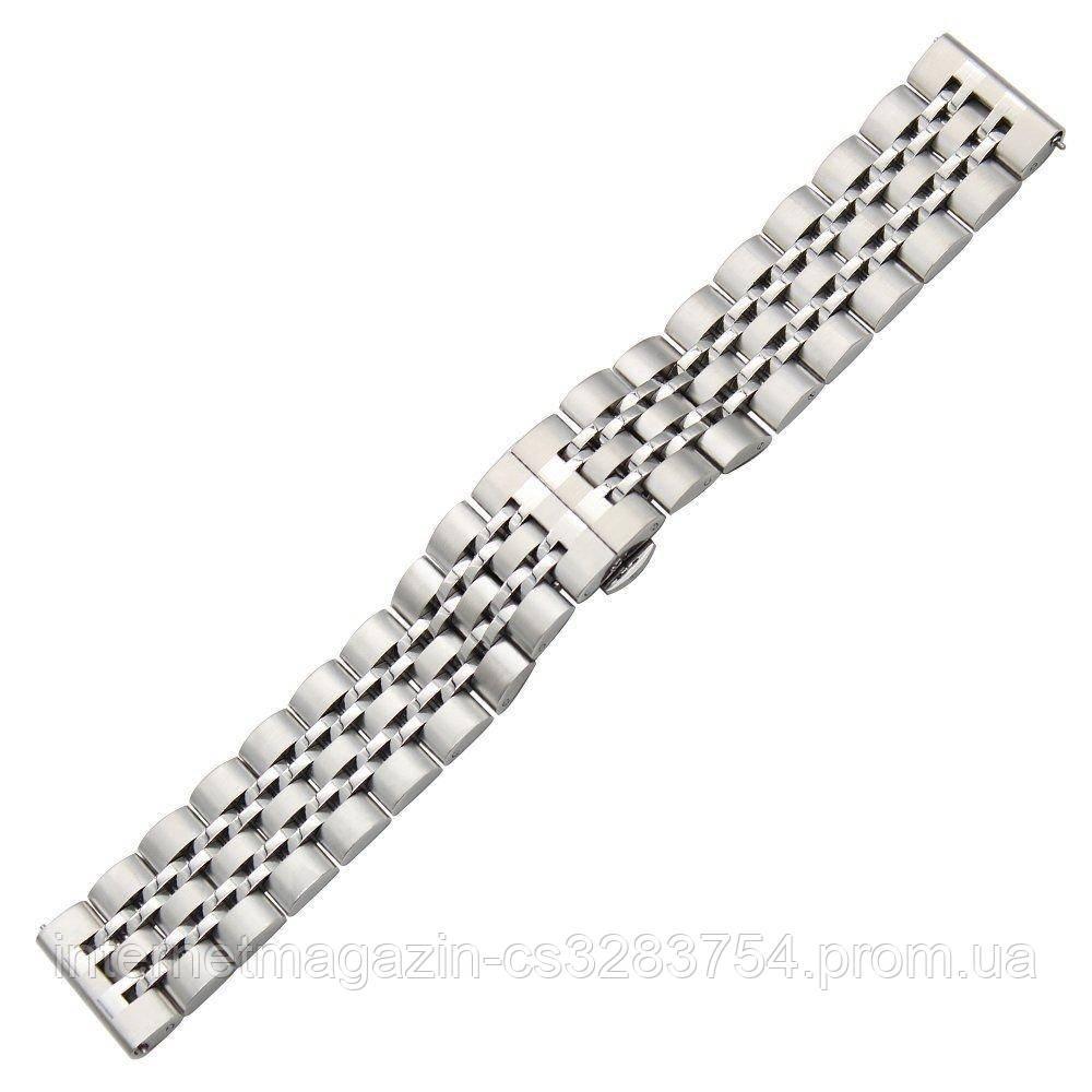 Ремешок BeWatch classic стальной Link для Samsung Galaxy Watch 46 мм Silver (1021405)