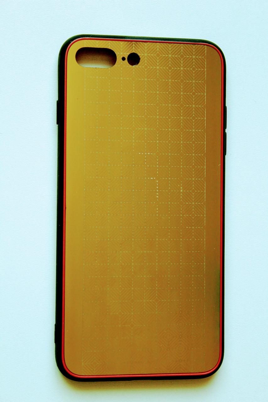 Чохол Fiji для Apple Iphone 7 Plus бампер з металевою накладкою Gelius Metal Gold Plating