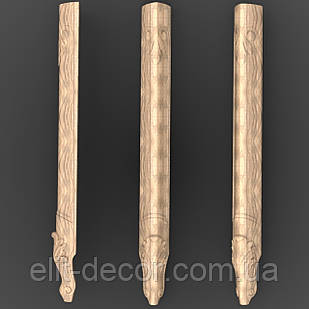 Резная опора. Ножка деревяная 600x60x50. NA-002