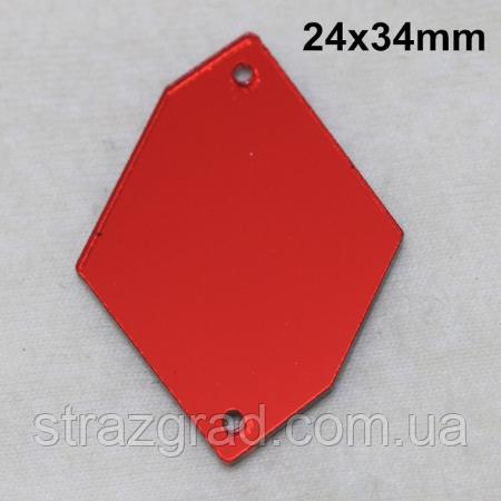 Зеркальные пришивные стразы Космик С/С 24х34 SIAM