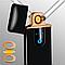 Зажигалка USB Lighter Business Black Matte спиральная с индикатором заряда, фото 3