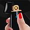 Зажигалка USB Lighter Business Black Matte спиральная с индикатором заряда, фото 5