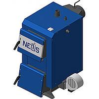 Котел на твердом топливе длительного горения  НЕУС-ЭКОНОМ ПЛЮС 12кВт (установлен блок управления и вентилятор)
