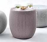 Набір столик і два пуфи KNIT COZIES TABLE фіолетовий ( URBAN KNIT SET ), фото 9
