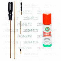 Набор для чистки пневматики 4,5мм (пэт упаковка) + Ballistol 50 ml spray