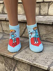 Женские носки разный принт на правой и левой ноге стрейчевые Montebello 35-40 12 шт в уп микс цветов