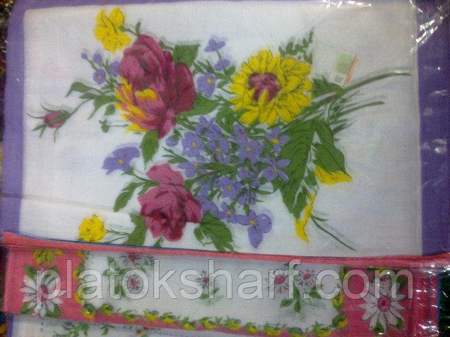 Носовий хустку жіночий в упаковці, бавовна, фото 7