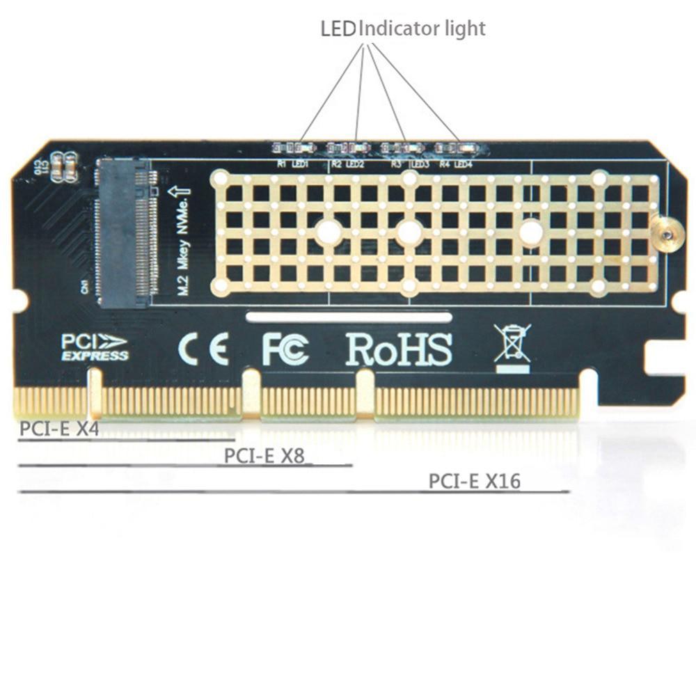 Адаптер переходник PCI-E M.2 NVMe SSD ключ M X4 низкопрофильный