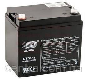 Гелевый аккумулятор OUTDO 12V-33Ah (12V33Ah/20HR) OT33-12