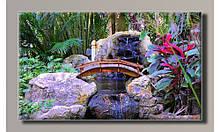 Картина на холсте Ручей-водопад  для интерьера