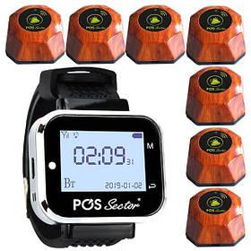 Cистема вызова официанта: пейджер-часы официанта + 7 кнопок