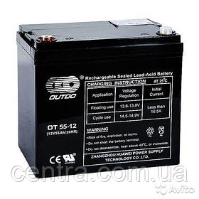 Гелевый аккумулятор OUTDO 12V-55Ah (12V55Ah/20HR) OT 55-12