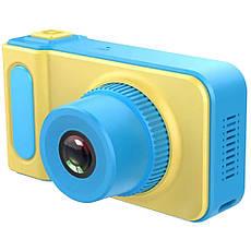 Детский цифровой фотоаппарат Smart Kids Camera V7 Синий, фото 3