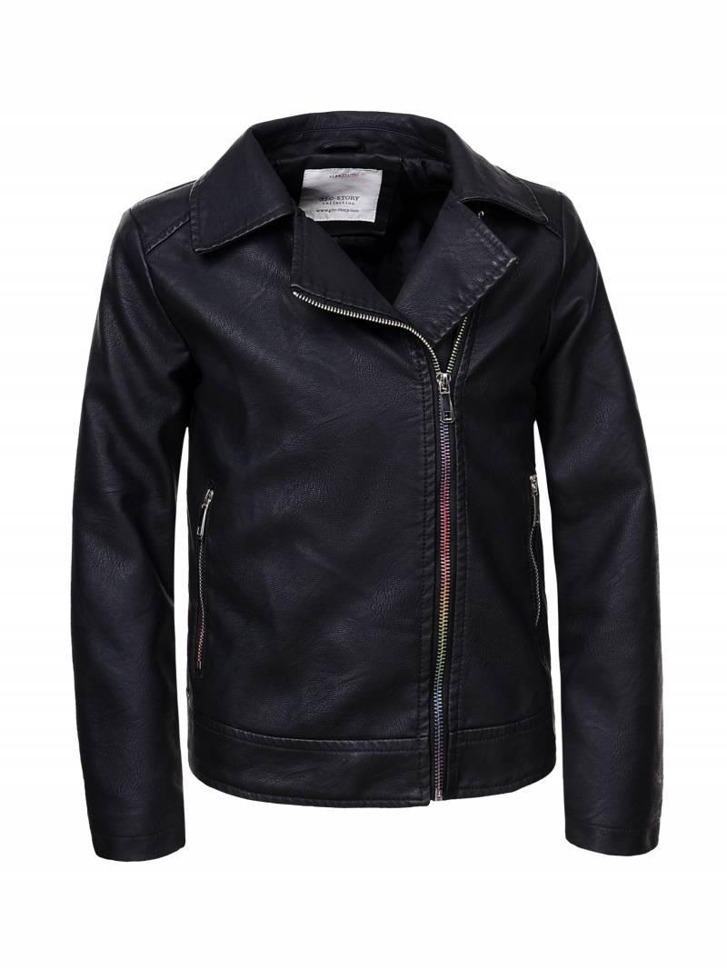 Черная куртка-косуха для девочки 9-12лет