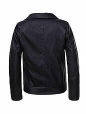 Черная куртка-косуха для девочки 9-12лет, фото 3