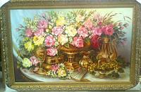 Картины художников. Живопись маслом на холсте Цветы Розы