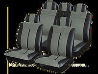 Чехлы на сиденья, кожзам H&R Буффало (Израиль) черно-серые, фото 1