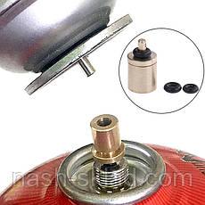 Газовый адаптер переходник  для заправки резьбового баллона от цангового, фото 2