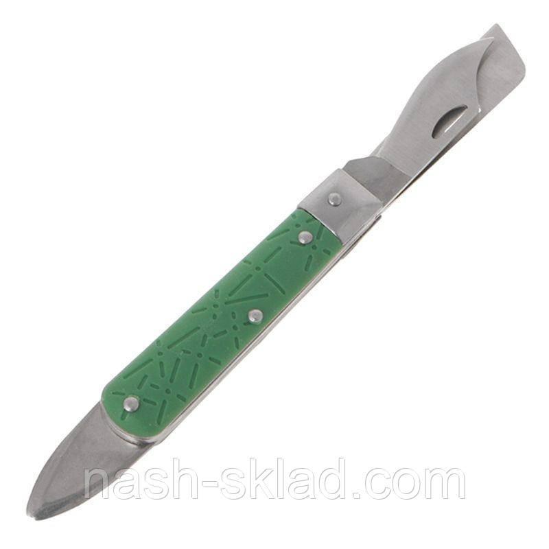 Нож садовый прививочный 3 в 1