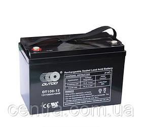 Гелевый аккумулятор OUTDO 12V-100Ah (12V100Ah/20HR) OT100-12