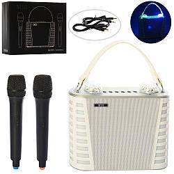 Беспроводная стерео караоке системаX15316сдвумя микрофонами