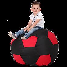 Пуфик детский Хатка Мяч черный с красный