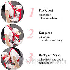 Рюкзак-переноска для детей до 15 кг, фото 3