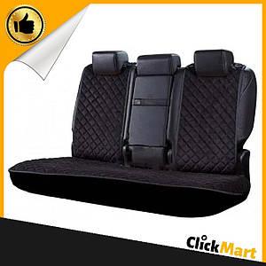 Накидки, авточехлы на сидения автомобиля Алькантара стиль, Черные, задний комплект