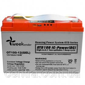 Гелевый аккумулятор OUTDO 12V-100Ah (12V100Ah/20HR) OT 100-12 контроллер