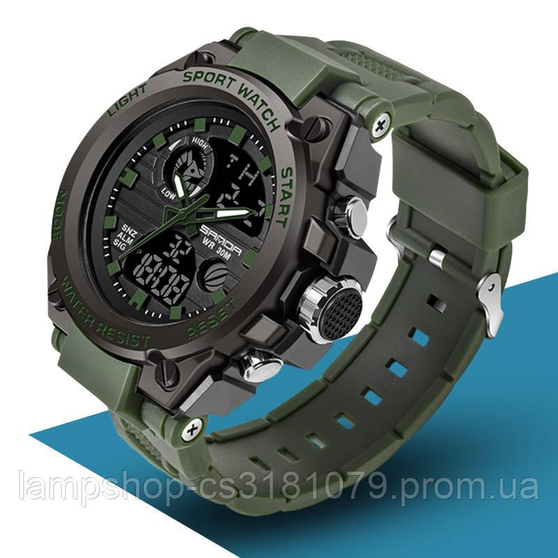 Мужские спортивные часы Sanda 739 Green-Black