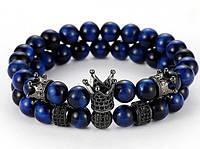 Парные браслеты для влюбленных из натурального камня