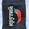 Носки с принтом высокие черные 36-40 размер, фото 3