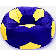 Пуфик детский Хатка Мяч синий с желтым