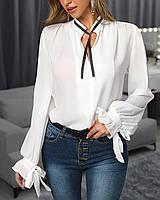 """Женская модная блузка """"Бантик"""" 5 цветов  до 52 размера"""