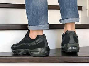 Кроссовки Nike air max 95, нубук,черные, фото 3