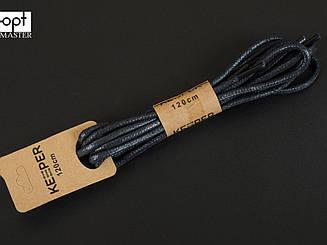Шнурки (в упаковке) круглые вощеные 3 мм, 120 см, цв. чёрный
