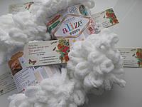 Турецкая фантазийная пряжа Puffy Alize Белого цвета 55