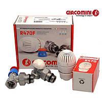 """Термостатичний Комплект радіаторний кутовий 1/2"""" R470FX003 Giacomini (Італія), фото 1"""