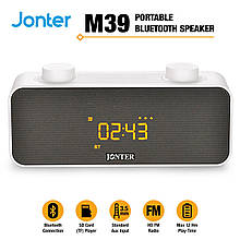 Колонка Bluetooth Jonter M39 с часами Черный