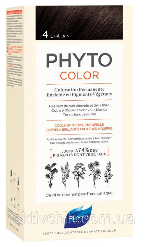 Крем-краска для волос PHYTO (Фито) Фитоколор тон 4 Шатен